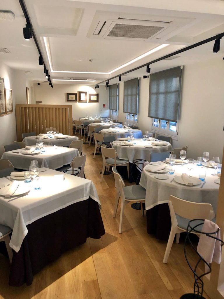 Salón privado restaurante gallego